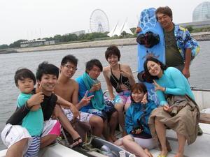 夏だ!船に乗って海遊びしよう