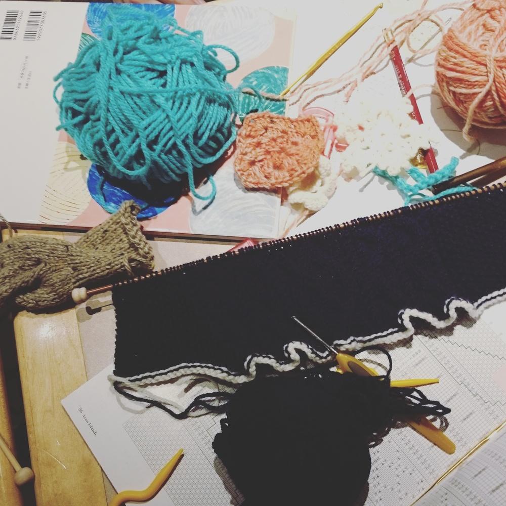 編み物カフェ会♪
