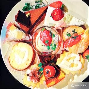 キュートで個性あふれるスイーツ💕約15〜20種類のスイーツを食べ比べが楽しめます🌈✨ 🍎旬のフルーツ、こだわりの食材🍎
