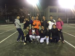 テニス練習(ダブルスゲーム)一宮