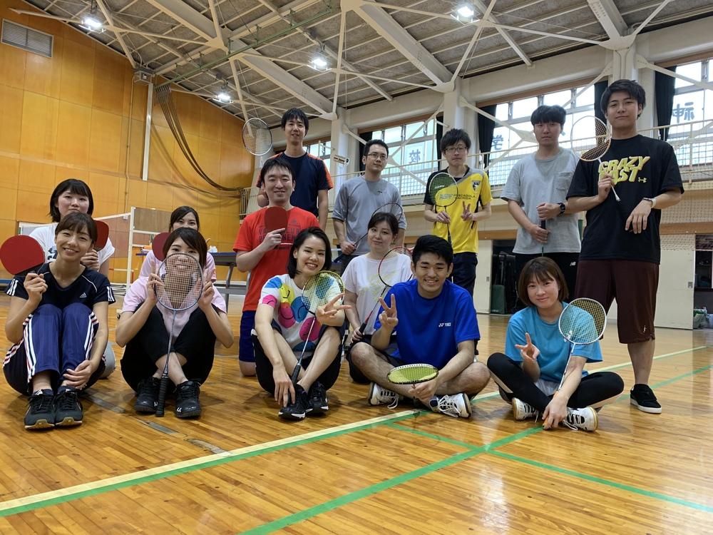 2月28日 金曜 18時から21時 バドミントン&卓球 初心者の未経験者のための社会人サークル(^^)