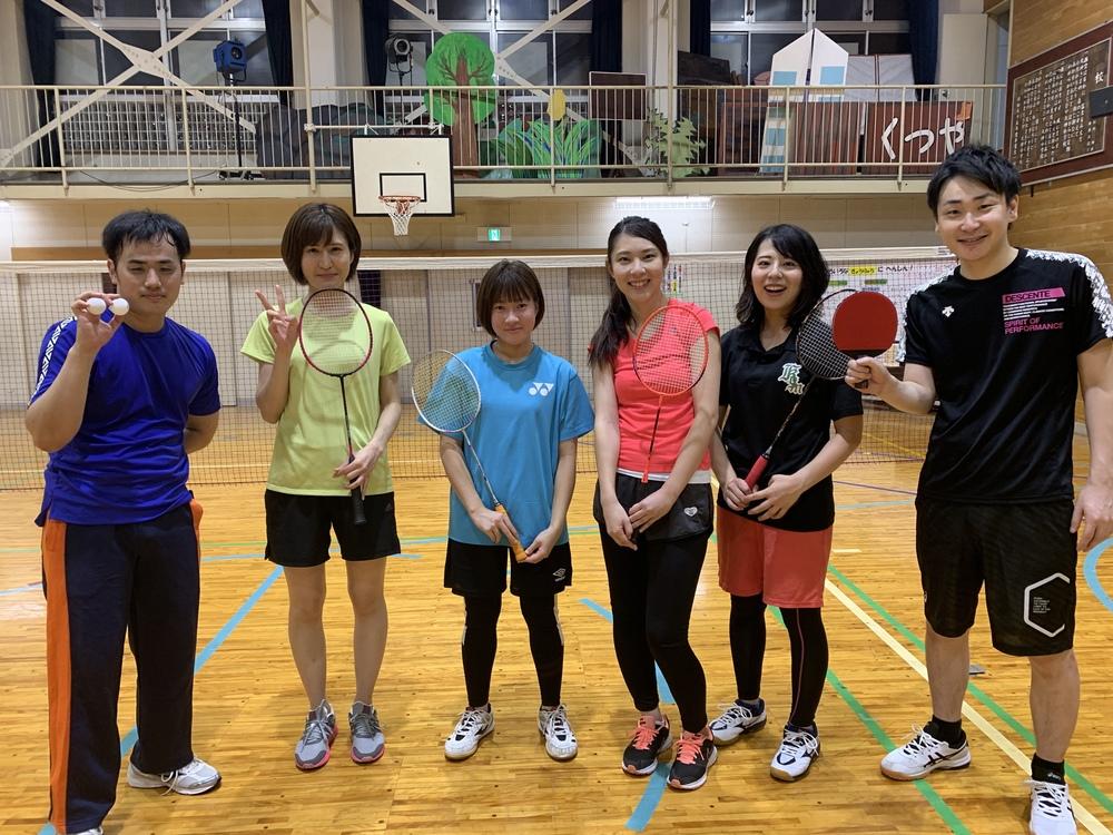 4月18日 土曜 9時から12時 バドミントン&卓球 初心者の未経験者のための社会人サークル(^^)