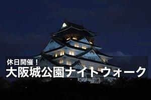【大阪城公園×ナイトウォーク】ライトアップされた大阪城を見ながら歩こう~!