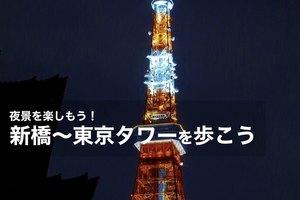 【新橋~東京タワー】夜景を楽しみながら歩こう~!
