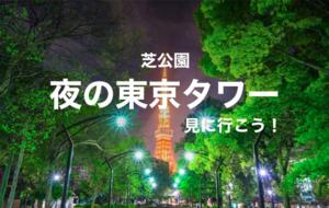 【東京タワー×ナイトウォーク】ライトアップされた東京タワーが望める場所、芝公園を歩こう!