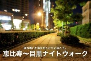 【恵比寿〜目黒駅ナイトウォーク】落ち着いた街を、のんびりと夜散歩。