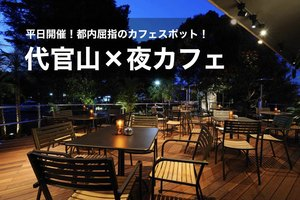 【代官山×夜カフェ会】都内屈指のカフェスポット!!代官山で夜カフェ会しましょう!